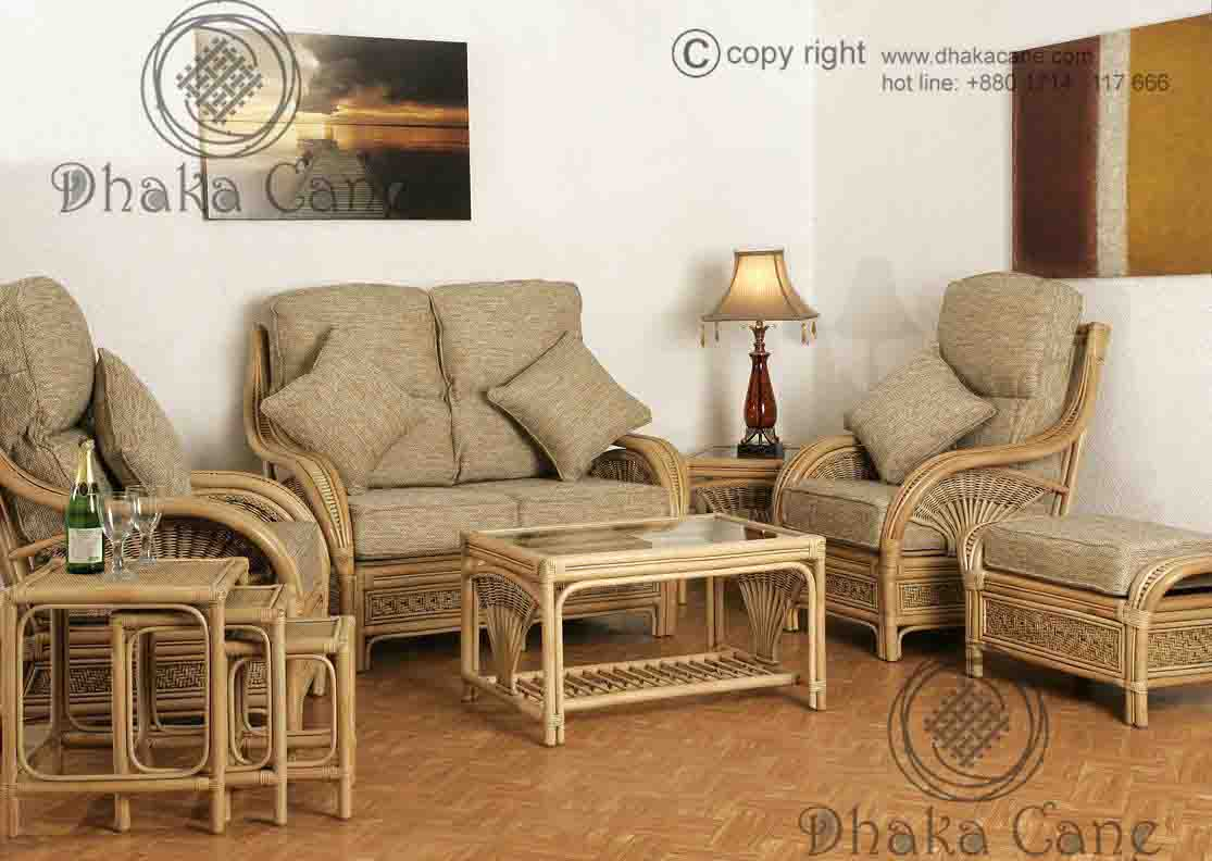 Rattan Living Room Sets - DCLR 11 - Dhaka Cane
